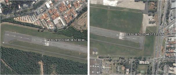 Pistas do Aeroporto Campo de Marte, São Paulo.