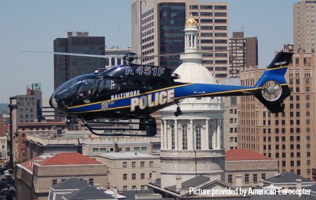 EC120B do Departamento de Polícia da cidade de Baltimore, Maryland/EUA
