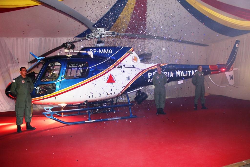 recebimento do novo helicóptero da unidade - o Pegaus 14