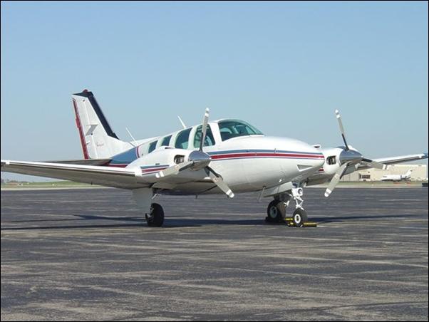 Avião BARON, prefixo PT-LMU