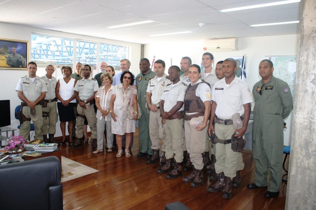 GRAER/BA recebe visita de Lideranças e Policiais Comunitários