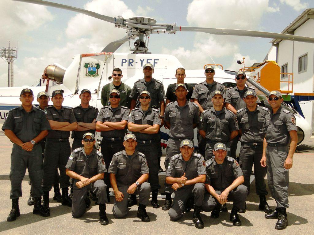 Alunos Oficiais da APMRN participam de instrução sobre operações aéreas no CEIOPAER/RN