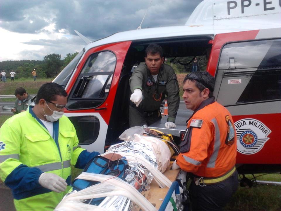 Ocorrência de Resgate Aeromédico, pela Rodovia Dom Pedro, Km 97 - pista norte. Águia 09.