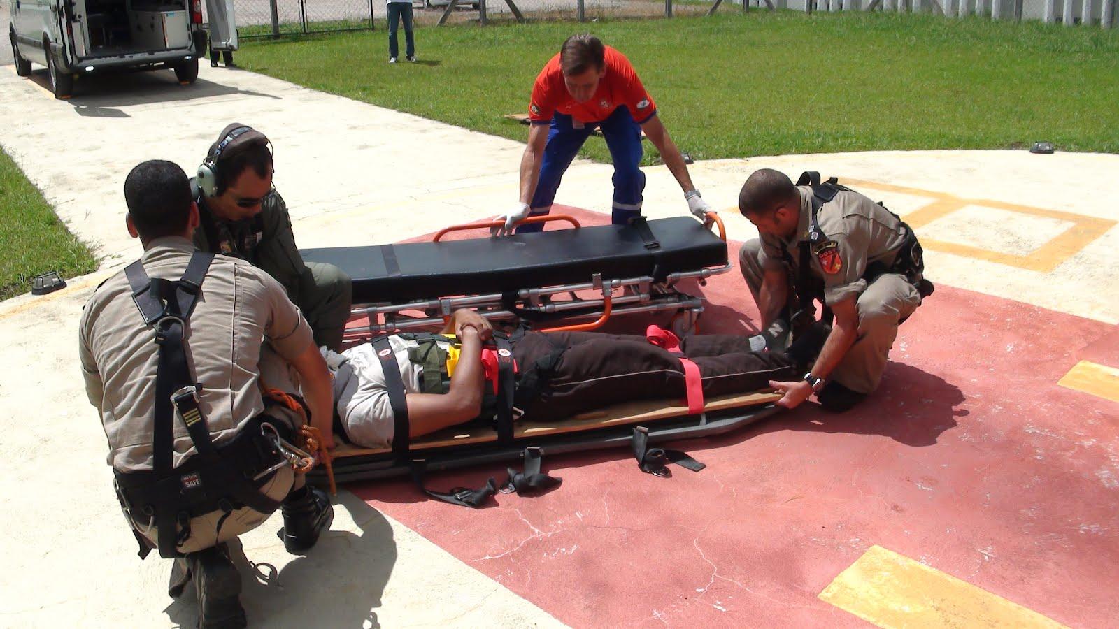 A vítima, de 23 anos, estava com contusão lombar e pélvica, sendo removido ao Hospital Angelina Caron em Campina Grande do Sul-PR. A integração entre estes órgãos possibilitou que fosse atendida a vítima de maneira ágil e especializada, contribuindo para a recuperação do ferido.