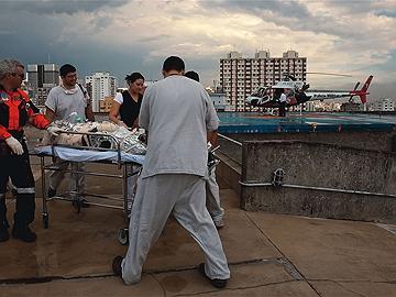Heliponto do Hospital das Clínicas: na maioria dos casos, as vítimas são levadas para lá. Foto: Antonio Milena