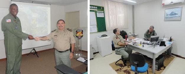 O comandante do GRAER, tenente coronel Lázaro, recepcionou o oficial paraibano na sede do Grupamento
