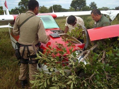 Ocupantes de avião acidentado em Palmas são resgatados pelo helicóptero da SSP