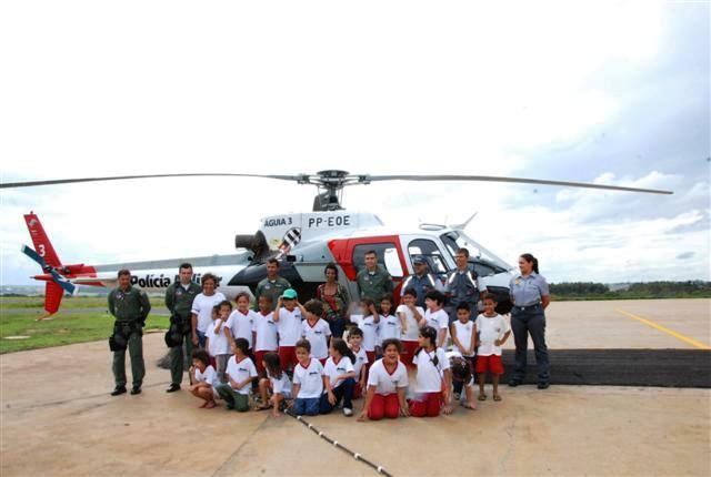 Alunos do projeto Cidade Escola visitam BRPAe Presidente Prudente/SP