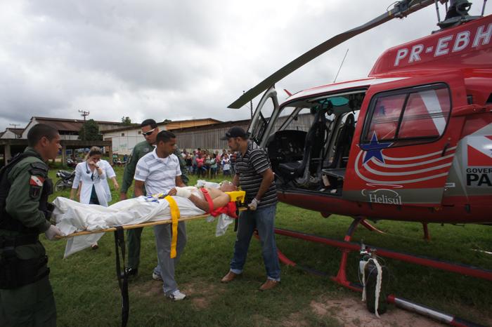 A vítima Manoel Gonçalves Oliveira, de 68 anos foi conduzido de uma clínica de Uruará para o Hospital Regional da Transamazônica em Altamira/PA.