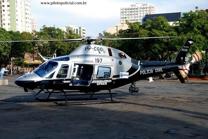 AW119Ke da Polícia Civil de Goiás, acidentada na data de hoje (08/05/12). Foto: Sgt Rodrigues