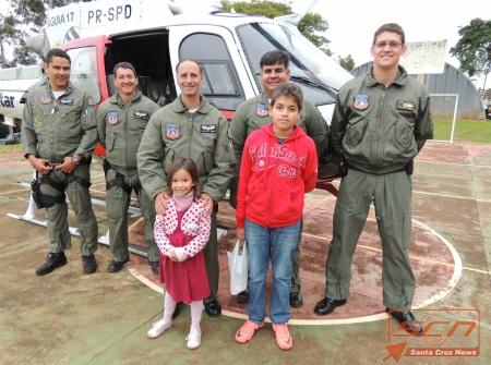 Helicóptero Águia da Policia Militar é atração da garotada na 46ª FAPI, em Ourinhos/SP