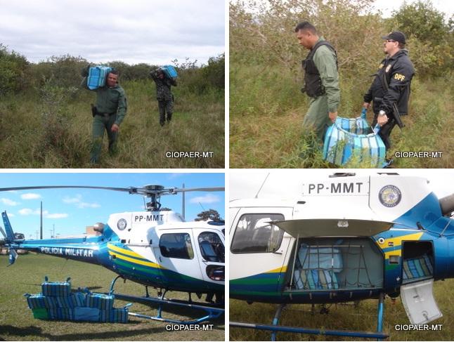 Conforme o delegado da Polícia Federal, Josean Severo, o apoio do Ciopaer foi fundamental para o sucesso da operação