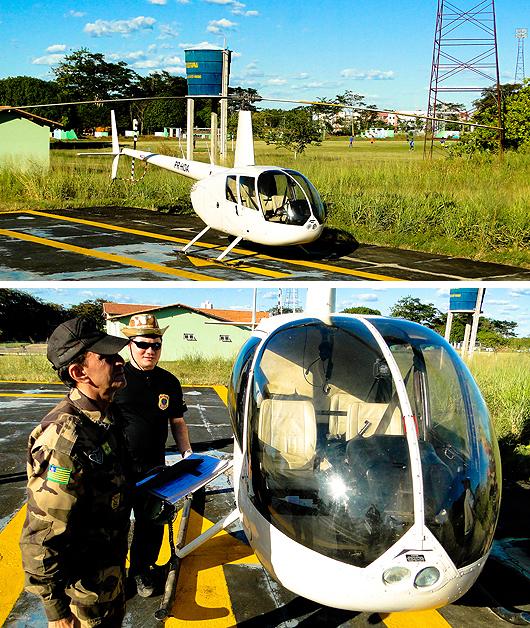 Helicóptero apreendido no transporte de drogas está no GTAP/PI, em Teresina