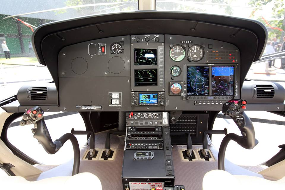 Glass cockpit Garmin G500H - Helibrás