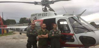 Base de São José dos Campos recebe visita de vítima salva em Paraibuna