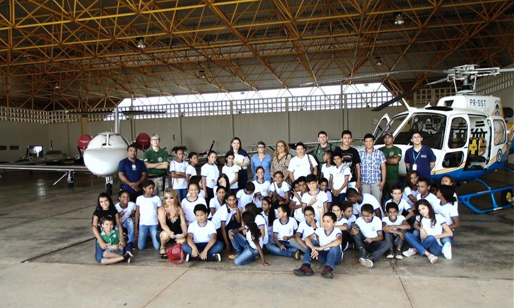 Ação ocorreu a convite da Empresa Brasileira de Infraestrutura Aeroportuária e ocorreu no aeroporto Brigadeiro Lysias Rodrigues, em Palmas - Ciopaer / Governo do Tocantins