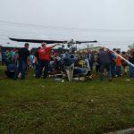 BPMOA e SIATE resgatam vítimas de acidente de helicóptero em Araucária