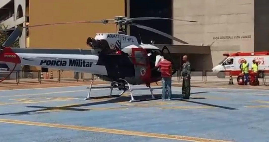 Águia 13 realiza transporte de órgão de Jundiai para São Paulo