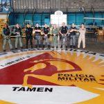 Equipe do GATE da PM de São Paulo visita Batalhão de Radiopatrulhamento Aéreo da PM de Minas Gerais