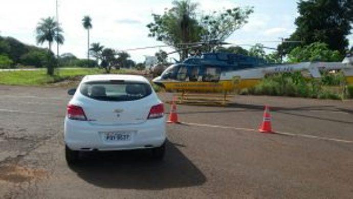 A ocorrência contou com apoio aéreo, de um Helicóptero da PRF que sobrevoou a região. (Foto: Olimar Gamarra)