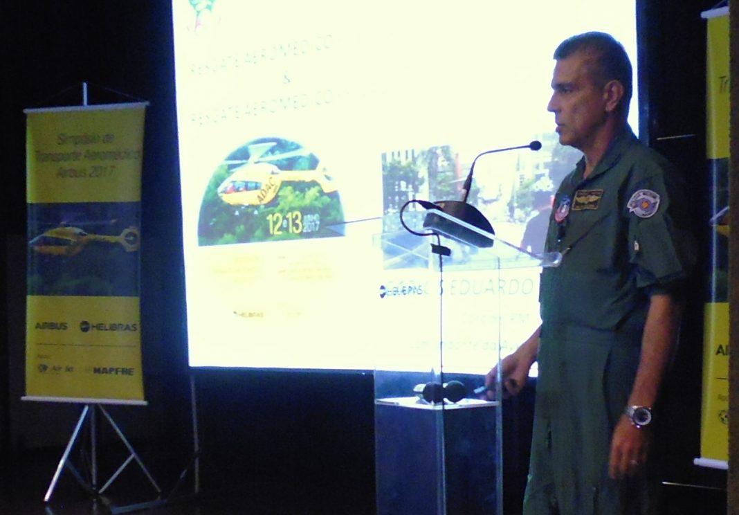 Cel PM Carlos Eduardo Falconi, Comandante do GRPAe. Foto: Eduardo Alexandre Beni.