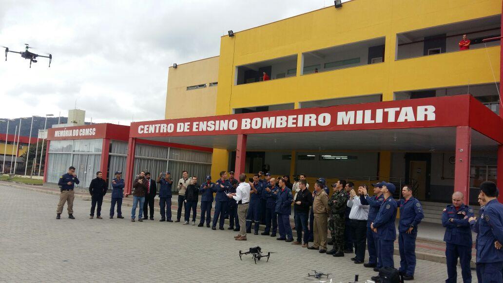 Demonstração dos RPAs durante o Simpósio. Foto: Divulgação CBMSC.