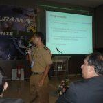 A Importância da Construção do Pensamento Científico para a Aviação de Segurança Pública, palestrante Maj PMMG Windson Jeferson Mendes de Oliveira. Foto: Eduardo Alexandre Beni.