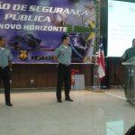 Palestra sobre Operações Aéreas em Áreas Conflagradas, palestrante Cap PMERJ Leitão e Maj PMERJ Marcelo Vaz.