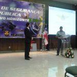 Palestra sobre Planejamento Federal das Ações de Segurança Pública para a Copa do Mundo de Futebol de 2014 e para os Jogos Olímpicos de 2016, palestrante Insp. Régis André Silveira Limana.