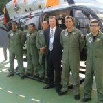 Mr Tim do Texas Police e equipe do GTA/MA no 4º Fórum Nacional de Aviação de Segurança Pública
