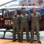 Cmt Oliveira do GTA/MA e equipe no 4º Fórum Nacional de Aviação de Segurança Pública