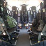 Interior do EC145 do GTA/MA no 4º Fórum Nacional de Aviação de Segurança Pública