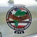 Brasão do GTA/MA no EC145 no 4º Fórum Nacional de Aviação de Segurança Pública