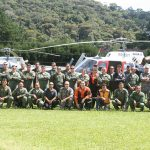 Tripulações do Águias 07 e 10 do GRPAe/SP, da Força Nacional (Nacional 01- AS350), do Grupamento Aéreo do Paraná (Falcão 03 – EC130), do IBAMA (IBAMA01 – Bell 206) e do Grupo Tático Aéreo do Maranhão (Águia 01 – EC145).
