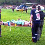 O SAMU atendeu as duas vítimas e contou com apoio do helicóptero Patrulha 01 da Policia Rodoviária Federal, que atua em parceria com o SAMU em todo país.