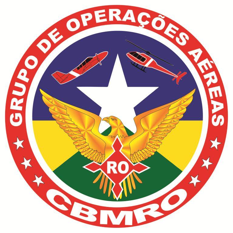 Brasão do Grupo de Operações Aéreas do Corpo de Bombeiros Militar do Estado de Rondônia