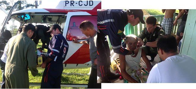 O objetivo do voo era resgatar Francisco Alves de Souza, 60 anos, que no último sábado, 16, caiu de um cavalo enquanto trabalhava no campo