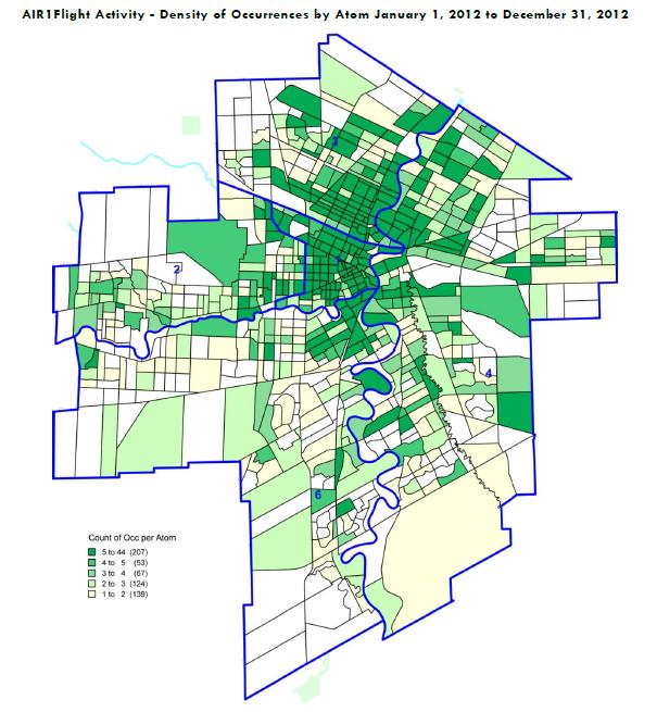 Mapa de atividade - February 4, 2013 - Winnipeg Police Service