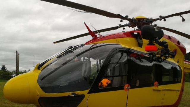 EC145 após colisão com fios
