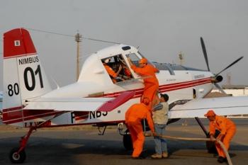 Aviões comprados há dois anos são capazes de carregar três toneladas de água.