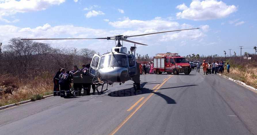 FOTO- Wellington Macedo - Homem fica em estado grave após acidente na BR-222