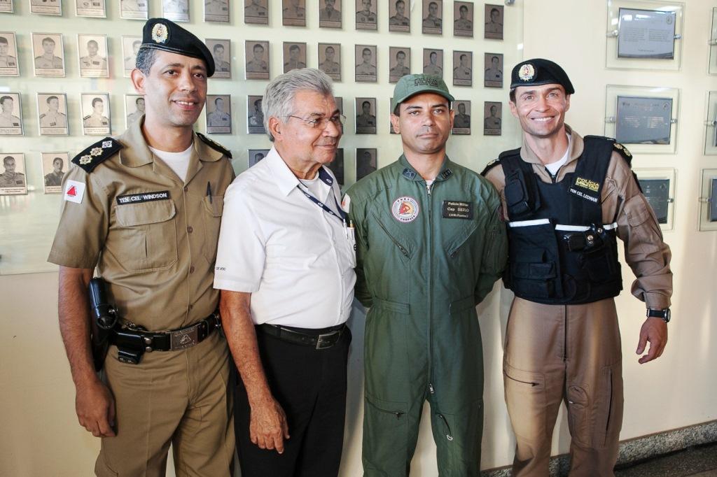 Cap PM Saulo Ronan de Sousa, comandante de helicóptero