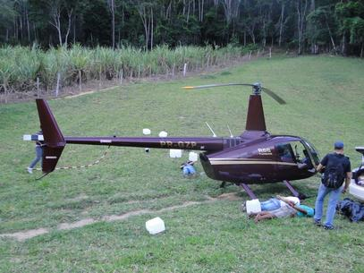 Helicóptero apreendido no Espírito Santo