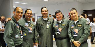 Oficias do GRPAe e da FAB no Encontro de Segurança de Voo de Presidente Prudente 2013