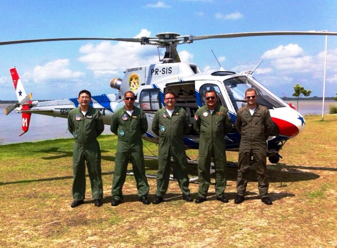 """Grupamento Aéreo de Segurança Pública do Estado do Pará - GRAESP teve a honra de receber a visita de uma comitiva do Grupamento de Rádiopatrulha Aérea """"João Negrão"""" da Polícia Militar do Estado de São Paulo (GRPAe)."""