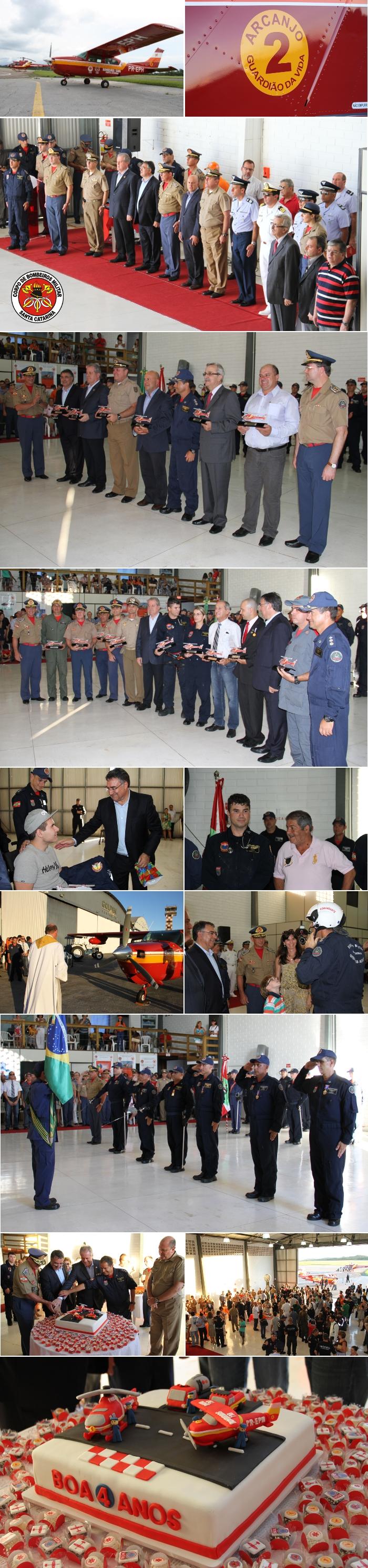 CBM-SC Batalhão de Operações Aéreas comemora 4 anos com nova aeronave