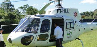 SAMU atende emergência em Guaíra/PR de helicóptero