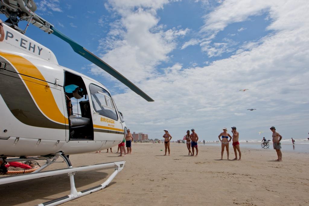 Capão da Canoa/RS: Convênio secretaria de segurança secretaria da saúde para qualificar o transporte aéreo no litoral gaúcho.