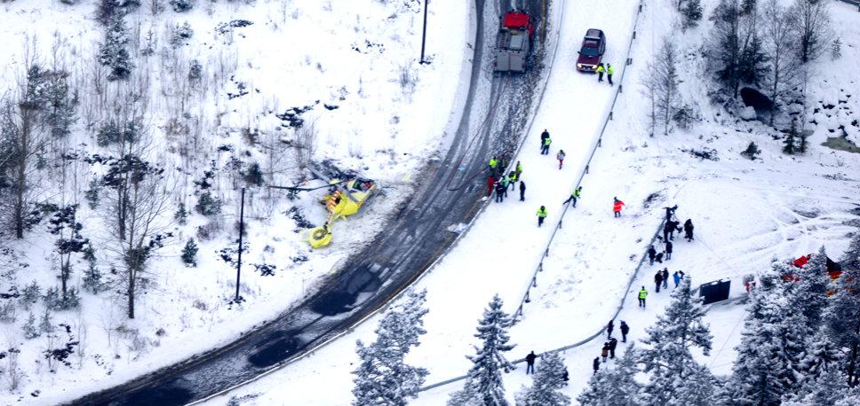 Acidente com EC135 aeromédico após colisão com fios, na Noruega - vídeo