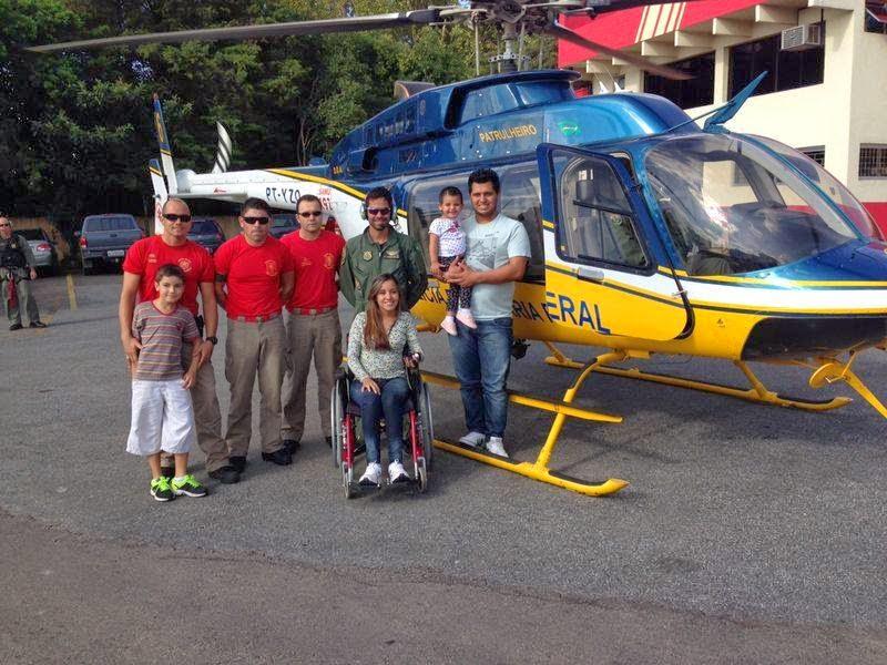 Tripulantes da Base PRF/SAMU em Curitiba/PR recebem uma visita especial